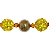 Shamballa Beads Yellow 8In Strand